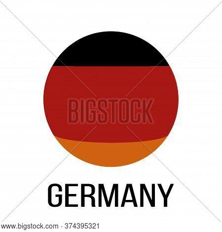 Germany Flag In Circle. Germany Flag. National Germany Flag. Flag Background. Vector Illustration.