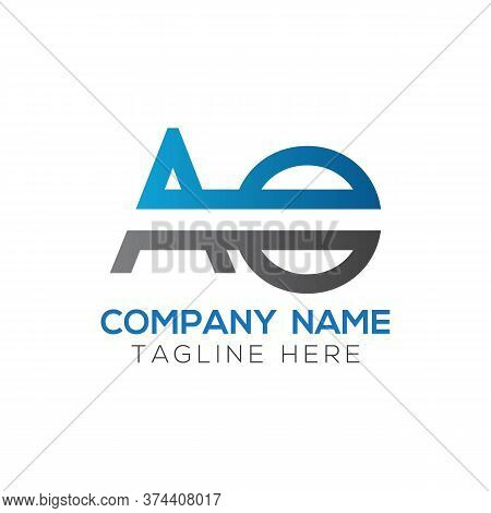Initial Ao Letter Logo Design Modern Business Typography Vector Template. Creative Linked Letter Ao