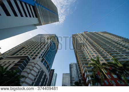 Facing Up Photo Of Highrise Buildings In The City