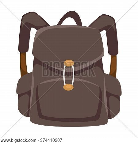 Solid Rucksack With Clasps And Straps, Unisex Urban Bag