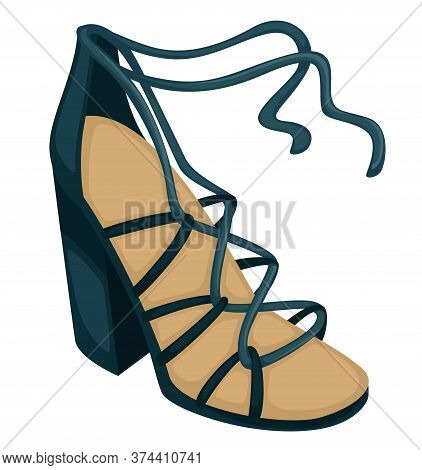 Wedges With Laces, Trendy Women Footwear, Fashionable Shoes