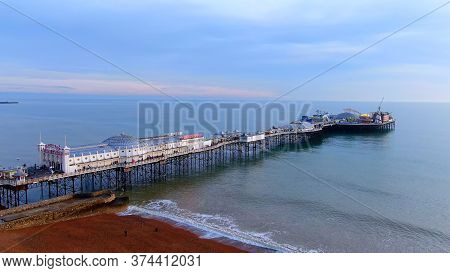 City Of Brighton From Above - Beautiful Aerial View -aerial Photography