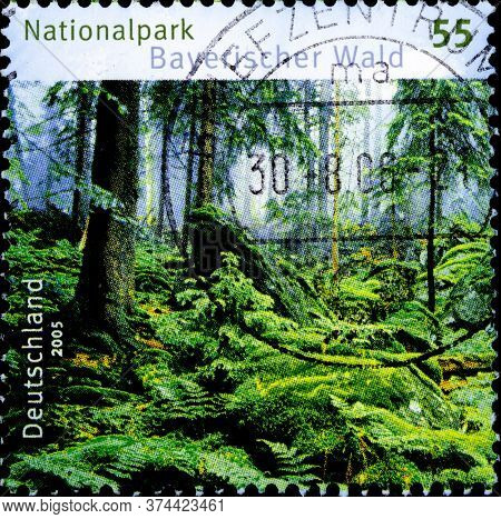 02.10.2020 Divnoe Stavropol Territory Russia The Postage Stamp Germany 2005 German National Parks -