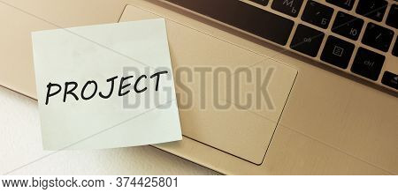 Project Guidelines Blank Paper Out Of A Laptop Screen, Isolated On White Background Recruiter