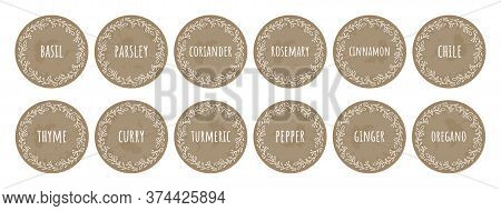 Cardboard Food Labels Or Stickers. It Can Be Used For Marking Kitchen Food Containers With . Labels,