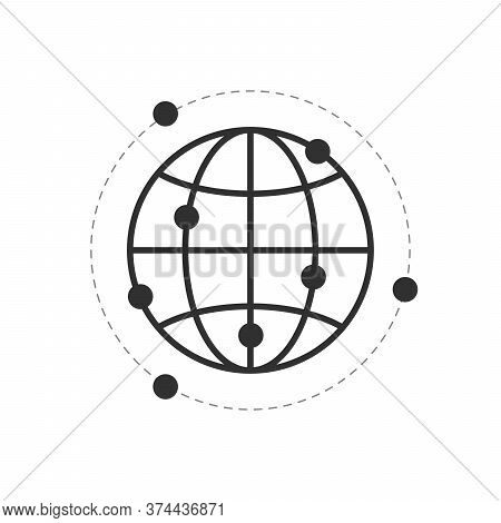 Connect The World, Global Connection Over The Network. Digital Technology World. Stock Vector Illust