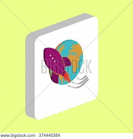 Space Ship Rocket Simple Vector Icon. Illustration Symbol Design Template For Web Mobile Ui Element.