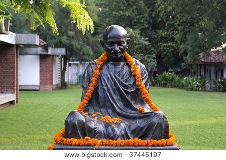 Decorated Statue Of Mahatma Gandhi
