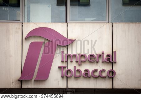 Prague, Czechia - October 31, 2019: Imperial Tobacco Logo In Front Of Their Office In Prague. Imperi