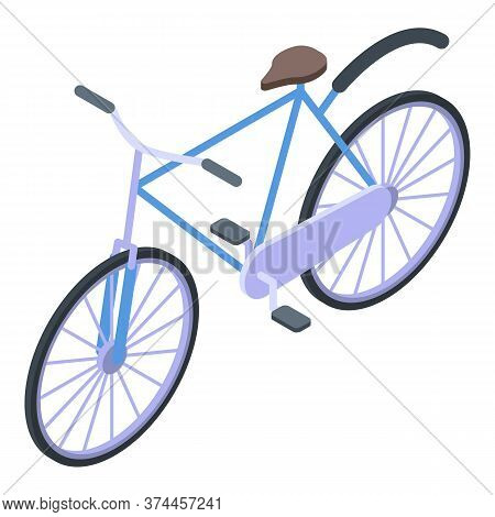 Swedish Bicycle Icon. Isometric Of Swedish Bicycle Vector Icon For Web Design Isolated On White Back