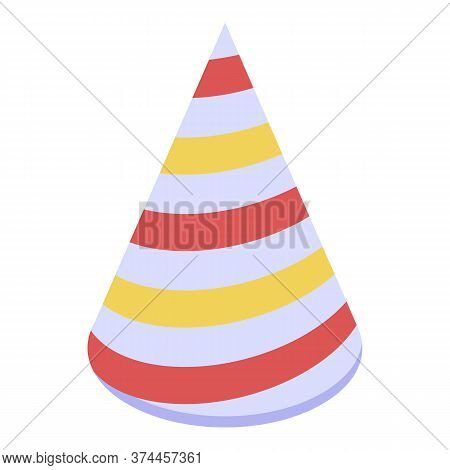 Hoax Colorful Cone Icon. Isometric Of Hoax Colorful Cone Vector Icon For Web Design Isolated On Whit