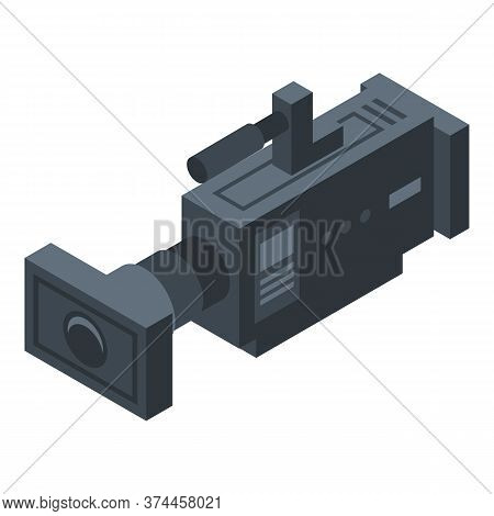 Tv Cameraman Icon. Isometric Of Tv Cameraman Vector Icon For Web Design Isolated On White Background