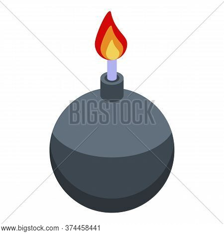 Fraud Bomb Icon. Isometric Of Fraud Bomb Vector Icon For Web Design Isolated On White Background