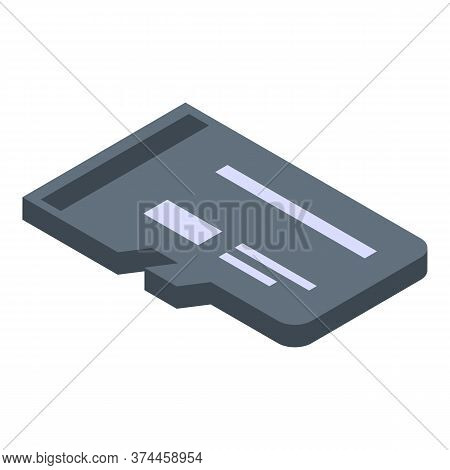 Micro Sd Storage Icon. Isometric Of Micro Sd Storage Vector Icon For Web Design Isolated On White Ba