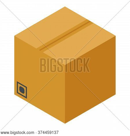 Parcel Box Storage Icon. Isometric Of Parcel Box Storage Vector Icon For Web Design Isolated On Whit
