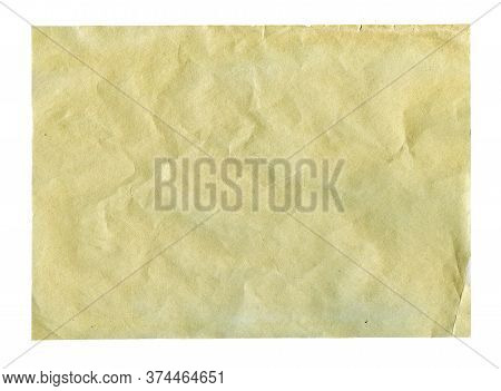 Textured Aged Dirty Grainy Paper Isolated Over White
