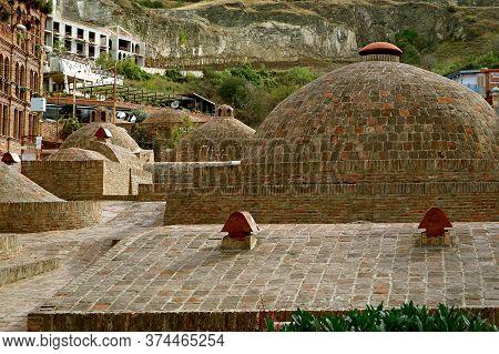 Historic Sulfur Baths In The Abanotubani Neighborhood Of Old Tbilisi, Georgia, 12th Oct 2019