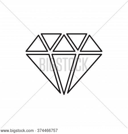 Diamond Icon Isolated On White Background. Diamond Icon In Trendy Design Style For Web Site And Mobi