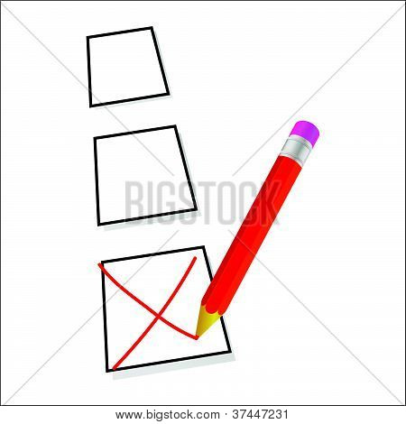 Test Ticking Vector Illustration