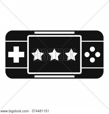 Portable Game Device Icon. Simple Illustration Of Portable Game Device Vector Icon For Web Design Is