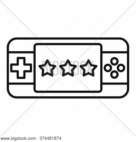 Portable Game Device Icon. Outline Portable Game Device Vector Icon For Web Design Isolated On White