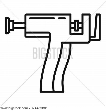 Piercing Gun Icon. Outline Piercing Gun Vector Icon For Web Design Isolated On White Background