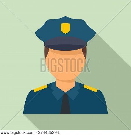 Policeman Avatar Icon. Flat Illustration Of Policeman Avatar Vector Icon For Web Design