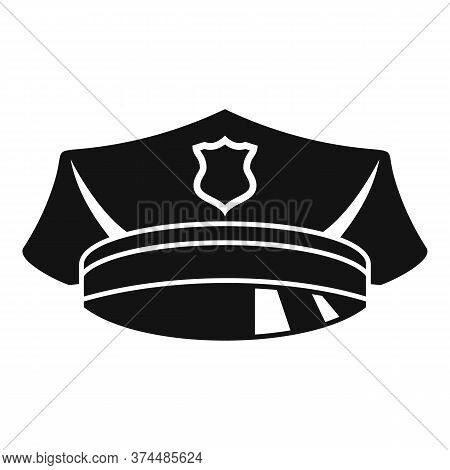 Police Officer Cap Icon. Simple Illustration Of Police Officer Cap Vector Icon For Web Design Isolat