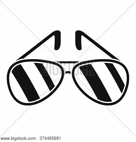 Policeman Sunglasses Icon. Simple Illustration Of Policeman Sunglasses Vector Icon For Web Design Is