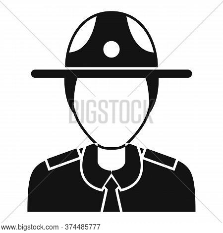 Police Officer Icon. Simple Illustration Of Police Officer Vector Icon For Web Design Isolated On Wh