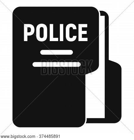 Police Station Folder Icon. Simple Illustration Of Police Station Folder Vector Icon For Web Design