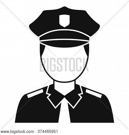 Policeman Avatar Icon. Simple Illustration Of Policeman Avatar Vector Icon For Web Design Isolated O