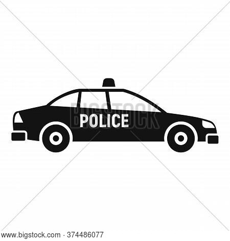 Police Car Icon. Simple Illustration Of Police Car Vector Icon For Web Design Isolated On White Back