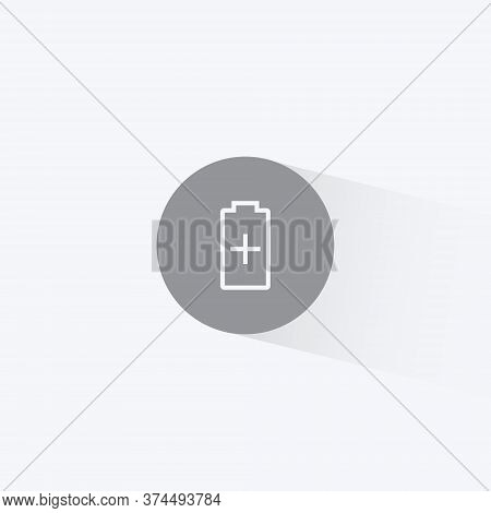 Battery Saver Icon Vector Illustration In Trendy Flat Style