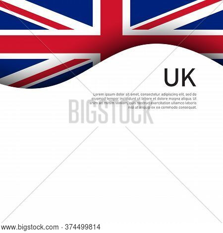 Great Britain Flag On A White Background. Uk Flag Pattern In Cut Paper Style. National Poster Of The
