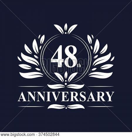 48 Years Anniversary Logo, Luxurious 48th Anniversary Design Celebration.