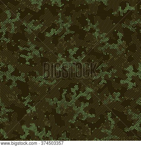 Seamless Vector Patterd Design.  Repeated Vector Green Artistic, Camo Wrapping. Khaki Repeated Abstr