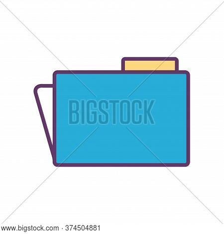 File Line And Fill Style Icon Design, Document Data Archive Storage Organize Business Office And Inf