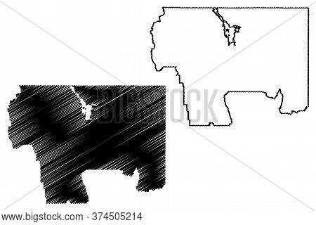 Caribou County, Idaho (u.s. County, United States Of America, Usa, U.s., Us) Map Vector Illustration