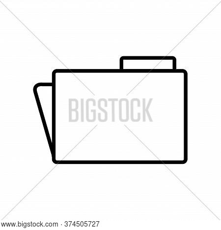 File Line Style Icon Design, Document Data Archive Storage Organize Business Office And Information