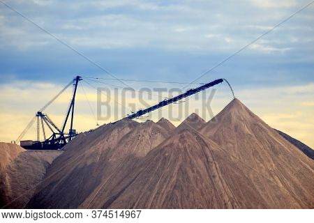 Huge Mountains Of Waste Ore In The Extraction Of Potassium. Belarus, Soligorsk