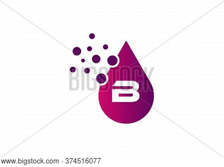 Abstract Letter B Logo Design With Creative Modern Trendy. Water Drop Concept. Minimal, Modern, Awes