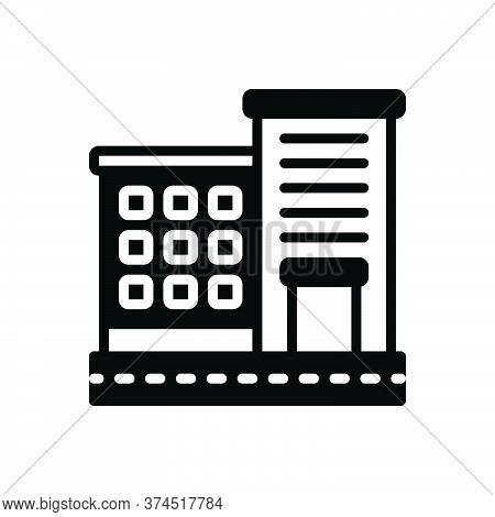 Black Solid Icon For Apartment Accommodations Residence Building Habitation Architecture Constructio