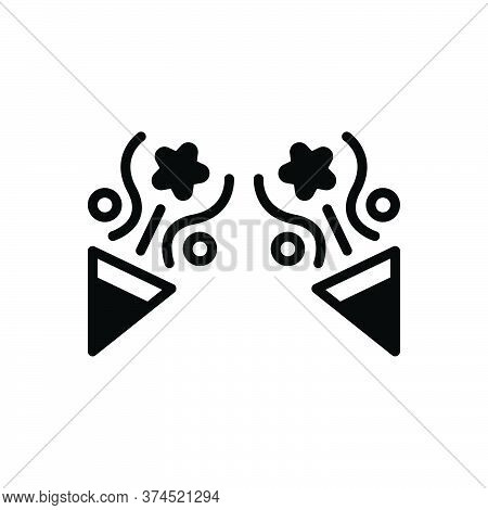 Black Solid Icon For Party Celebration Fun Enjoy Decorate