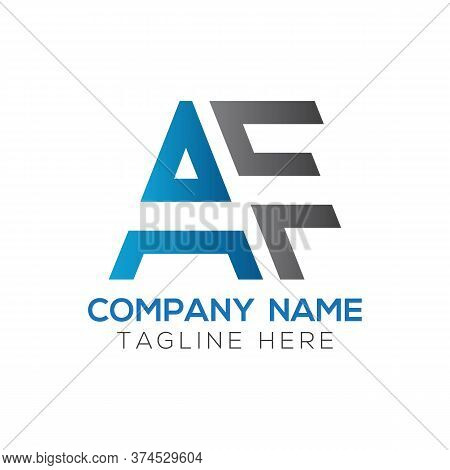 Initial Af Letter Logo Design Modern Business Typography Vector Template. Creative Linked Letter Af