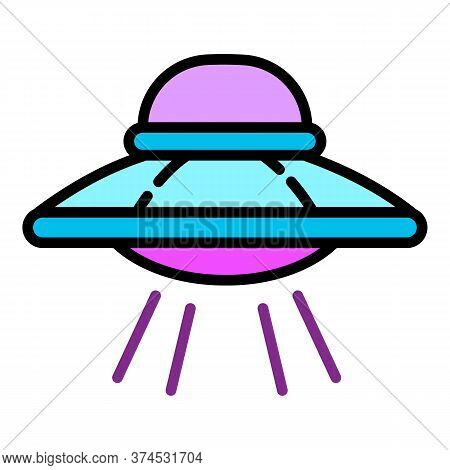 Ufo Icon. Outline Ufo Vector Icon For Web Design Isolated On White Background