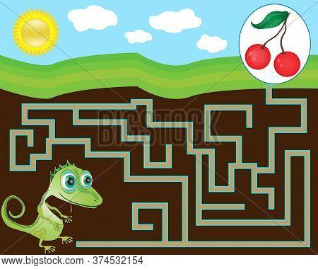 Game For Children. Maze For Children. Vector Illustration