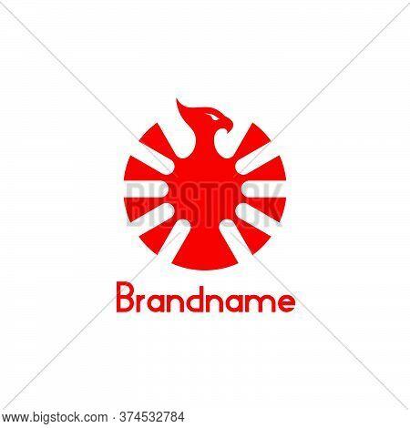 Phoenix Bird Logo Vector. Modern, Simple, Minimal, And Creative Design Concept. Isolated On White Ba