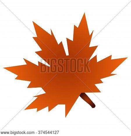 Single Maple Leaf. Autumn. Canadian Symbol. Vector