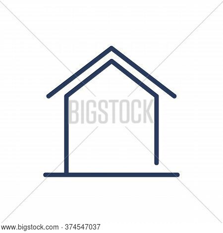 Home Shape Thin Line Icon. Family House, Cottage, Homepage Isolated Outline Sign. Architecture, Real